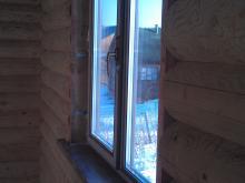Окно пвх в деревянном доме