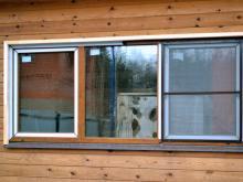 Панорамное ПВХ-окно в деревянном доме, Балашиха