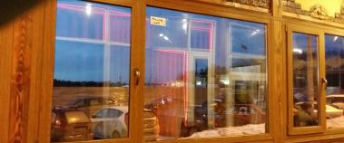 Пластиковое панорамное окно в кафе, Балашиха