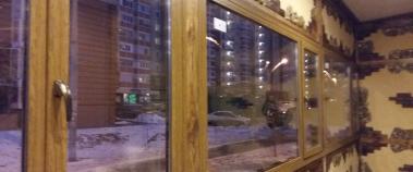 Пластиковое окно с ламинированным профилем KBE, Балашиха