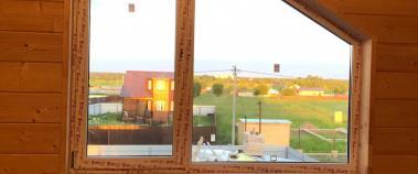 Изготовление пластикового окна по индивидуальным размерам для частного дома